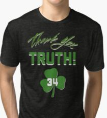 Thank You Truth #34! Feb 11, 2018 Number retirement  Tri-blend T-Shirt