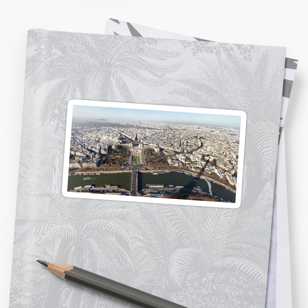 Paris panorama view from Eiffel Tower by Lukasz Szczepanski