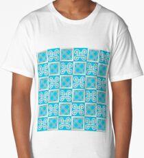 ethnic african pattern with Adinkra simbols Long T-Shirt