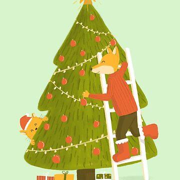 Merry Christmas Mr. Fox by cartoonbeing