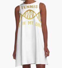 dns dna roots love calling TENNIS A-Line Dress