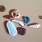 Beach treasures #1 by Elena Kolotusha