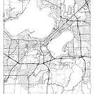 Madison Map Minimal by HubertRoguski