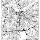 Louisville Map Minimal by HubertRoguski