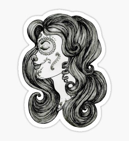 Sugar Skull Sweetheart II Sticker