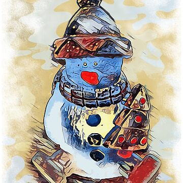 SNOWMAN MERRY CHRISTMAS by fuxart
