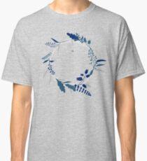 Blue Flower Wreath Classic T-Shirt