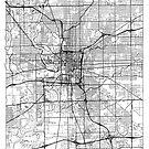 Indianapolis Map Minimal by HubertRoguski