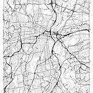 Hartford Map Minimal by HubertRoguski
