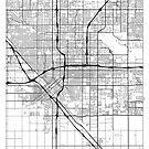 Fresno Map Minimal by HubertRoguski