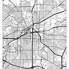 Fort Worth Map Minimal by HubertRoguski