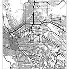El Paso Map Minimal by HubertRoguski