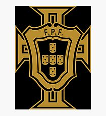 Portugal FPF (Portuguese Football Federation) logo Photographic Print