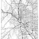 Colorado Springs Map Minimal by HubertRoguski