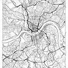 Cincinnati Map Minimal by HubertRoguski