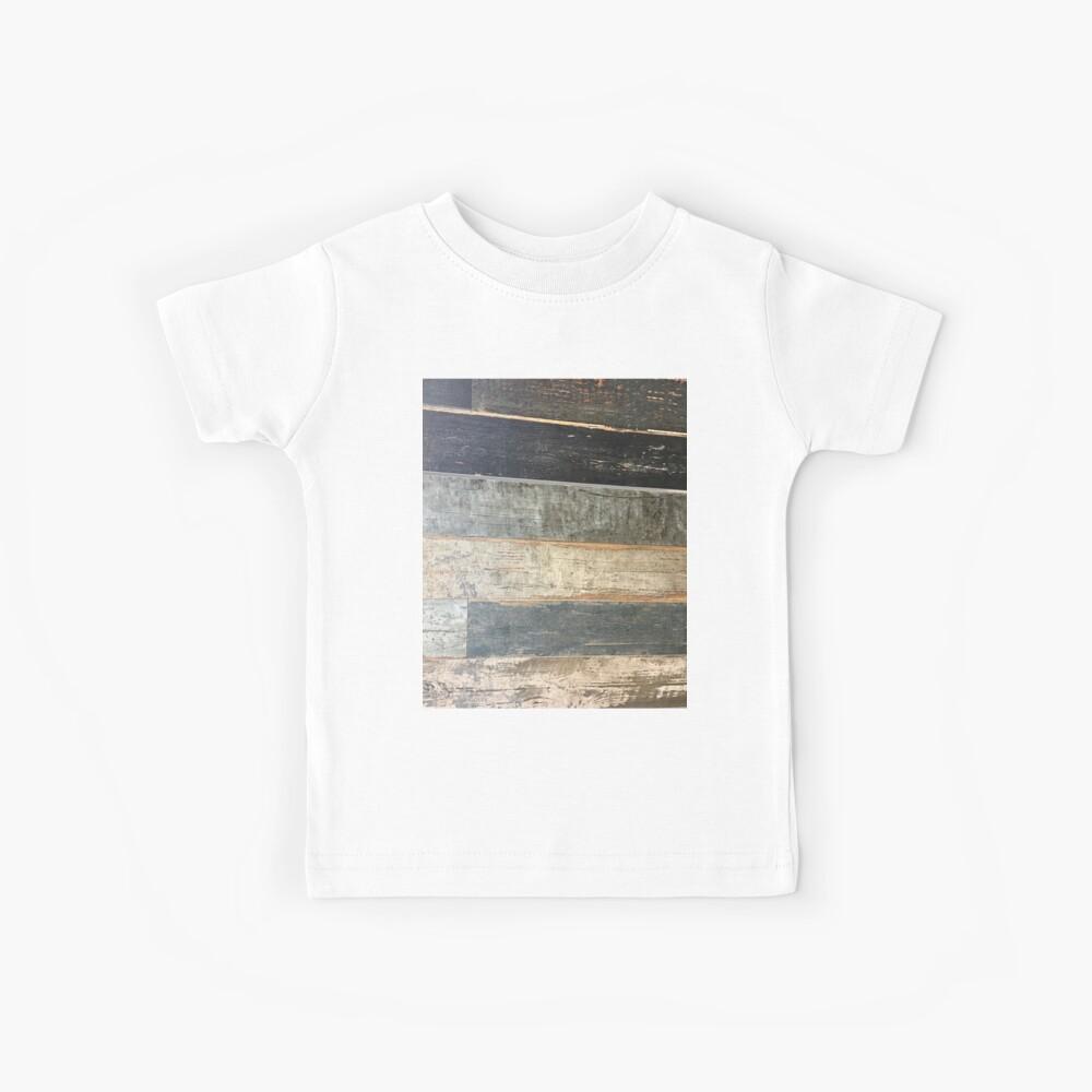 Distressed Strand rustikalen Land Bauernhaus chic teal Scheune Holz Kinder T-Shirt