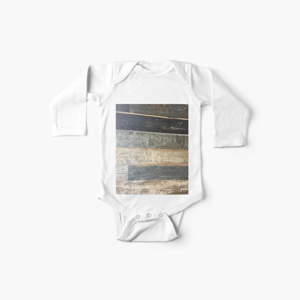 Distressed Strand rustikalen Land Bauernhaus chic teal Scheune Holz Baby Body