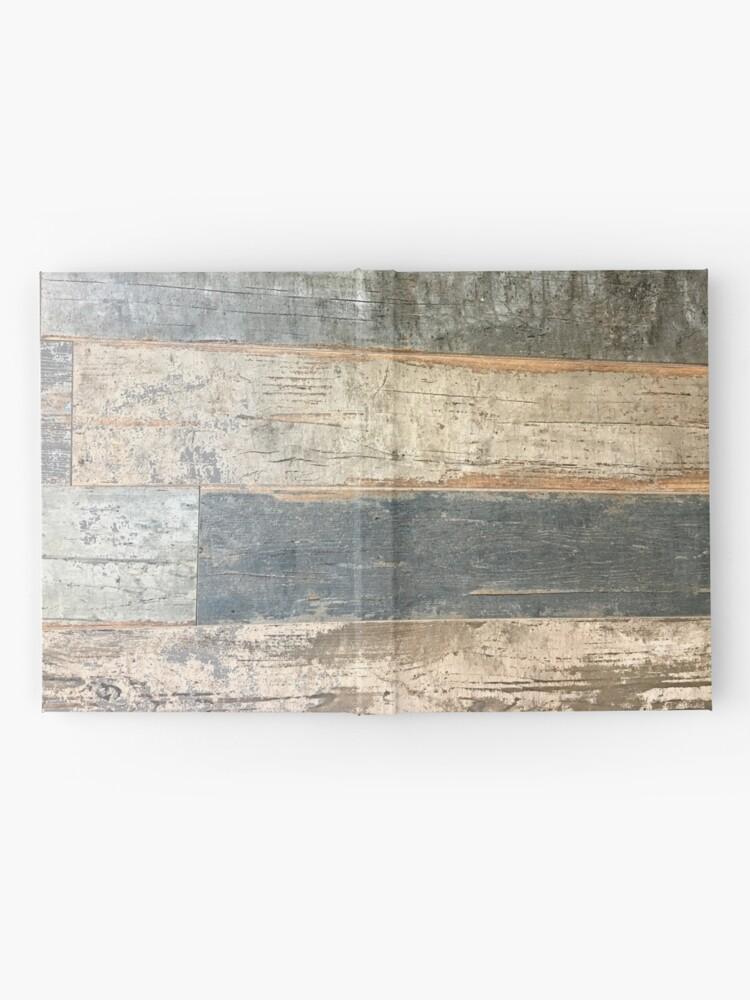 Alternative Ansicht von Distressed Strand rustikalen Land Bauernhaus chic teal Scheune Holz Notizbuch