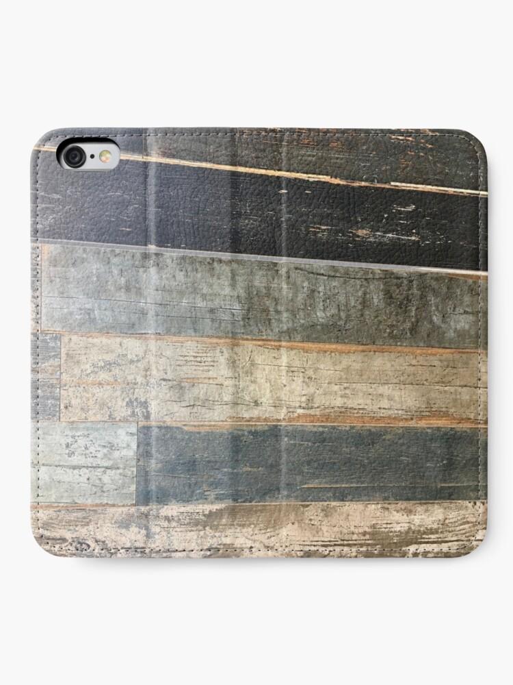 Alternative Ansicht von Distressed Strand rustikalen Land Bauernhaus chic teal Scheune Holz iPhone Flip-Case