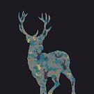 Big Rack Hunter (Women & Bucks) - Big Buck in Green and Grey Camo by LoveOfDictums