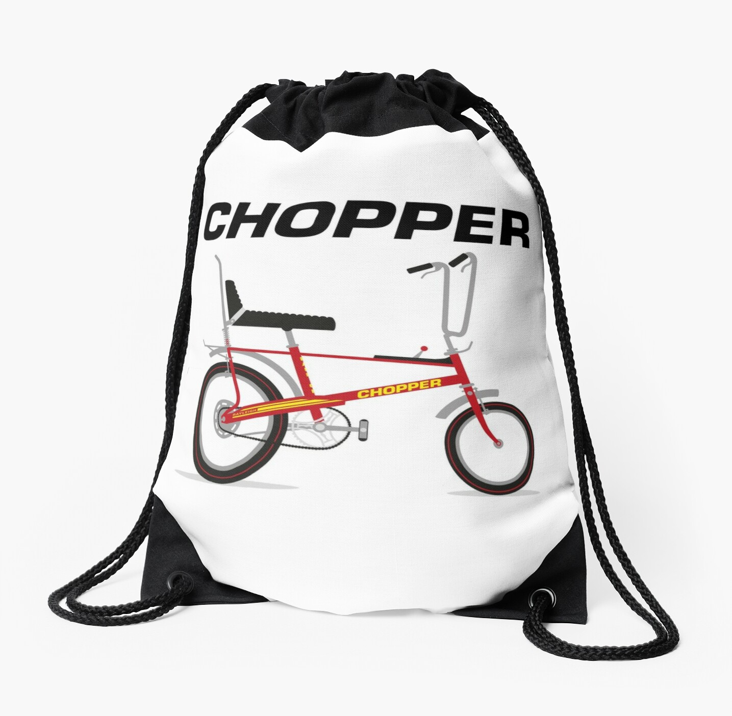 raleigh chopper drawstring bags by wiscan redbubble 1970s Bikes raleigh chopper by wiscan