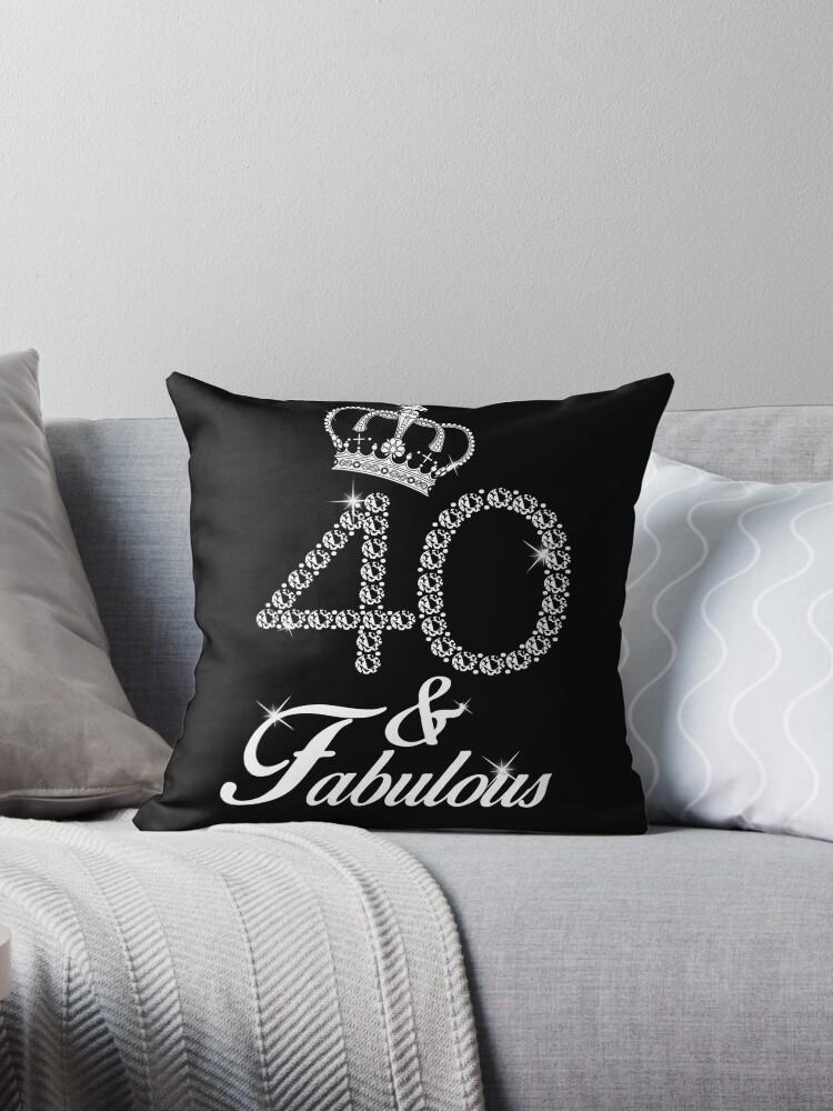 40th Birthday Gift Diamond 1977 T Shirt For Women Throw Pillow By Plistshirts