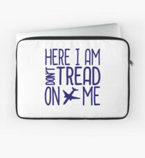 HERE I AM DON'T TREAD ON ME Laptop Sleeve