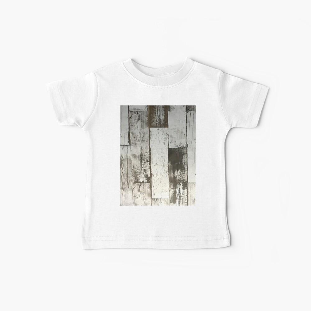 küstennahes schickes französisches Landseestrand-Weißholz Baby T-Shirt
