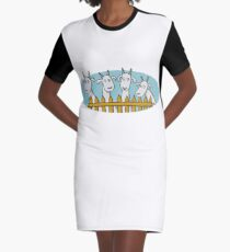 Hello goats Graphic T-Shirt Dress