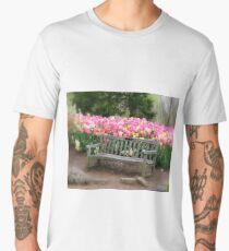 Sitting by the Tulips Men's Premium T-Shirt