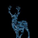 Big Rack Hunter (Women & Bucks) - Big Buck in Blue and Grey Camo by LoveOfDictums
