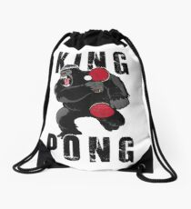 Vintage King Pong - Ping Pong Table Tennis T-Shirt Drawstring Bag