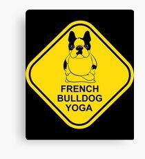 French Bulldog Yoga Canvas Print