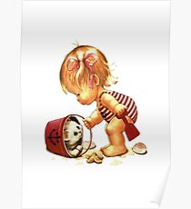 Child and cat Poster