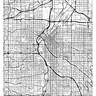 Denver Map Minimal by HubertRoguski