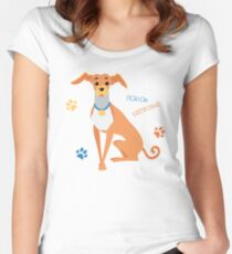 Dog Italian Greyhound  Women's Fitted Scoop T-Shirt