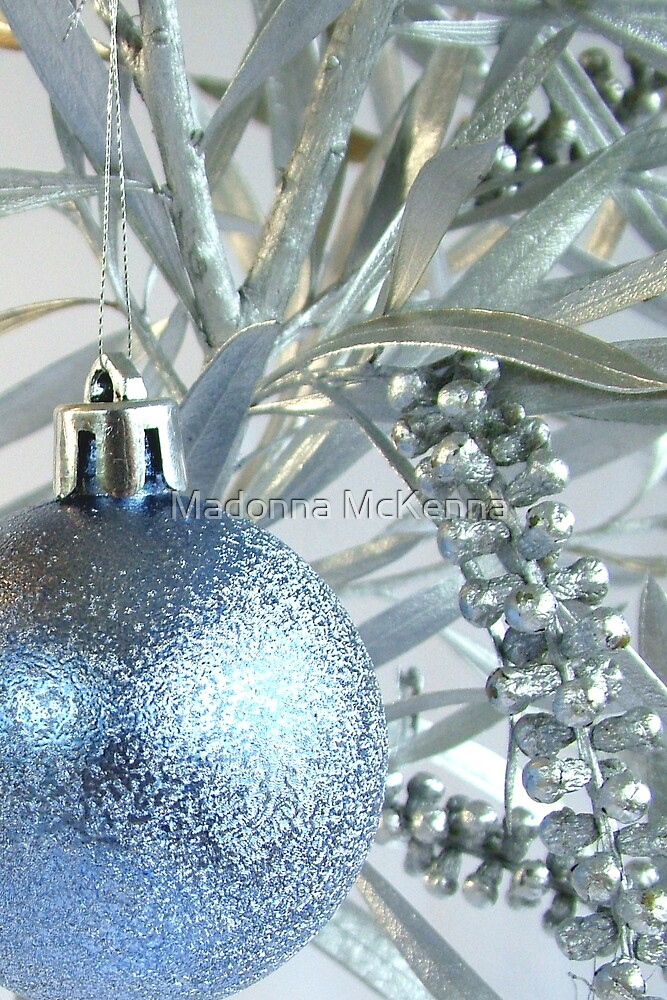 Blue and Silver Xmas by Madonna McKenna