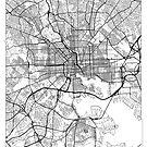 Baltimore Map Minimal by HubertRoguski