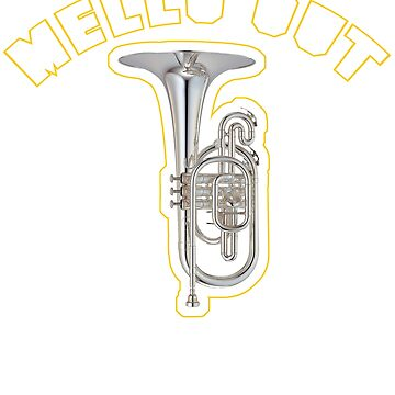 MELLO OUT Mellophone Marching Band Tee by tuffkitty