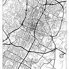 Austin Map Minimal by HubertRoguski