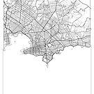 Montevideo Map Minimal by HubertRoguski