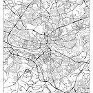 Newcastle upon Tyne Map Minimal by HubertRoguski