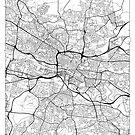 Glasgow Map Minimal by HubertRoguski