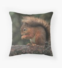 Squirrel shelter Throw Pillow