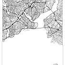 Istanbul Map Minimal by HubertRoguski