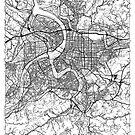 Taipei Map Minimal by HubertRoguski