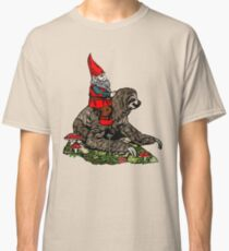 Gnome Riding a Sloth Classic T-Shirt