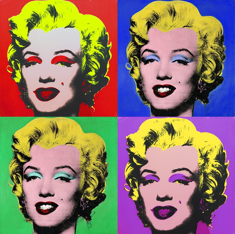 """MARILYN MONROE PCM ANDY WARHOL POP ART PARODY"" Stickers ..."