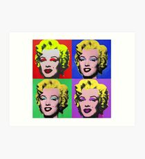 MARILYN MONROE PCM ANDY WARHOL POP ART PARODY Art Print