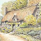 Thatched Cottage in the Woods by FranEvans